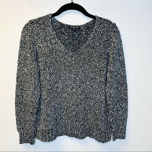 Eileen Fisher Marled Knit Cotton Sweater